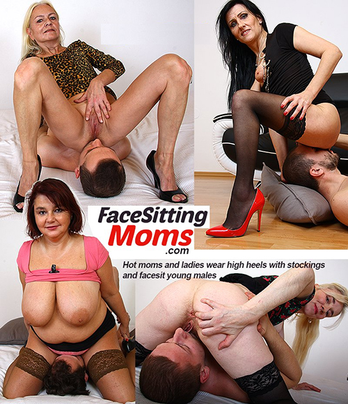 Aged women porn at FacesittingMoms.com